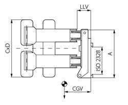 CT-S - Сталкивающие захваты для рулонов бумаги с углом поворота 90° с раздельными лапами